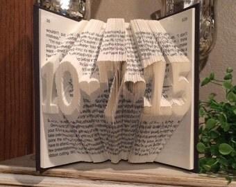 Custom Date Folded Book Art