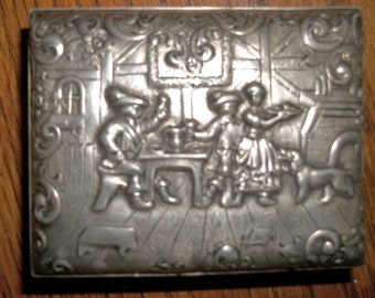 Vintage Repousse Trinket Box #3278 by Barbour Silver