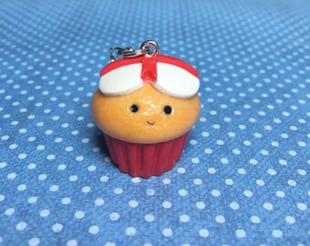 Kawaii Polymer Clay St Georges England Cupcake