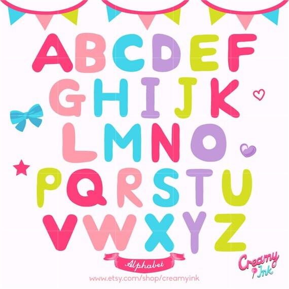 Alphabet Digital Vector Clip Art Alphabets Digital Clipart Design