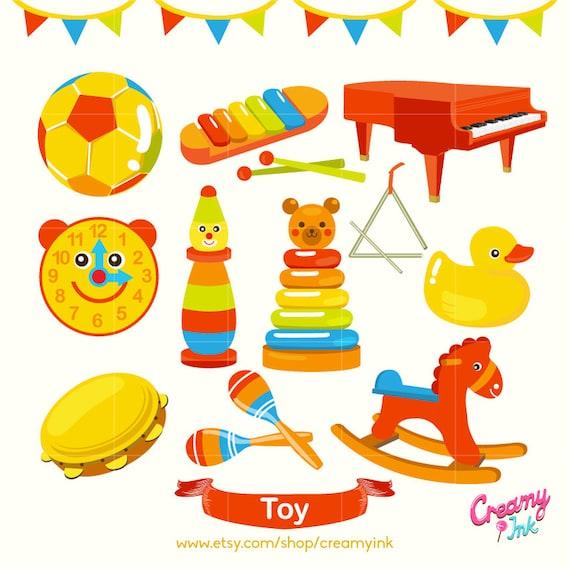 Baby Toys Clip Art : Kids toy digital vector clip art baby toys clipart