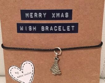 Christmas Tree Charm Bracelet. Perfect Secret Santa Gift or Stocking Filler