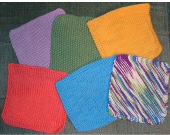 Knitting Pattern 7 Easy Knitted Dishcloth Patterns