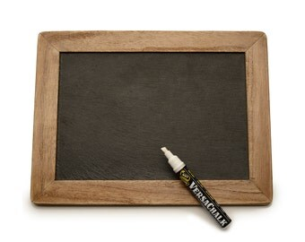 Natural Slate Rustic Chalkboard with Wooden Frame