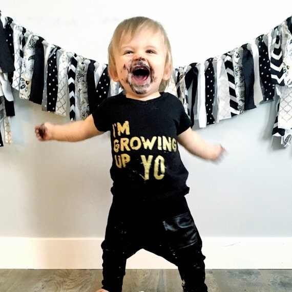 1st Birthday Outfit Kids Birthday Shirt Hipster Baby
