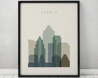 Austin print, Poster, Wall art, Texas cityscape, Austin skyline, City poster, Typography art, Home Decor, Digital Print, ArtPrintsVicky.