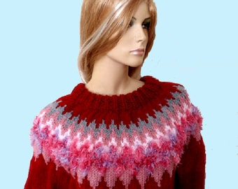 ICELANDIC SWEATER LADIES Hand Knitted.
