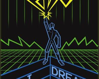 I Dream in Neon A3 Art Print