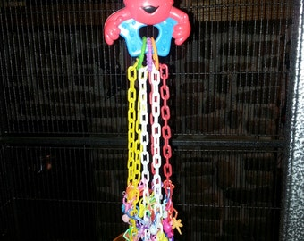 Elmo Pulley Toy - interactive, fun, foraging toy - sugar gliders, ferrets, prairie dogs, parrots. birds and more