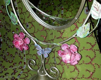 Decorative hand painted ornamental mirror