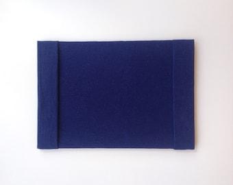 Navy Desk Blotter, Blue Desk Blotter, Fabric Desk Blotter, Blue Desk Pad, Navy Desk Pad, Fabric Desk Pad