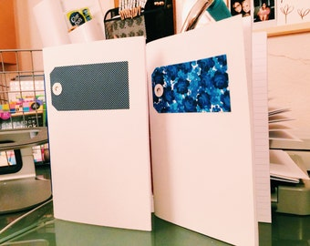 White & Blue Notebook