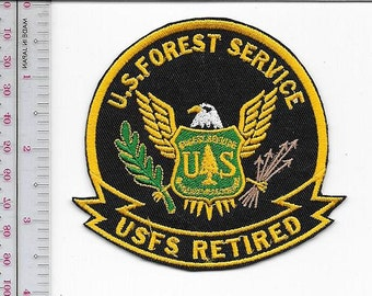 Hot Shot, Smokejumper, Wildland Firefighter, US Forest Service USFS Retired 3.5 inches