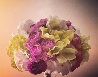 Floral Bouquet (Lilac, Lime and White)