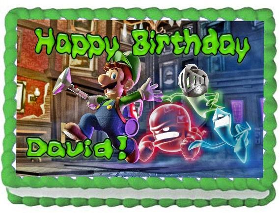 Luigi Mansion Cake Topper