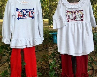 Ole Miss or Mississippi State Ruffled Legging Outfit