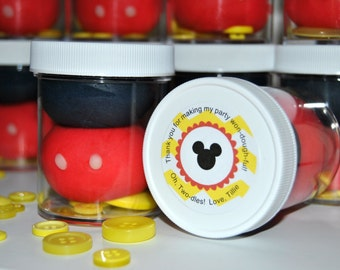 Mickey Mouse Play Dough Party Favors (8)