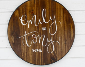 Wedding Names and Date Sign - Wedding || Customize || Name and Date || Wedding Gift || Wood Sign || Rustic Wedding || Custom Wood Sign