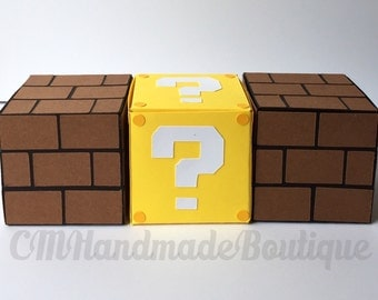 Super Mario Bros Question Mark and Brick Favor Boxes
