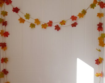 Autumn leaf garland home decoration, autumn wedding fall in love, baby shower