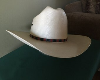 Larry Mahan's Collection Mens Handwoven Cowboy Hat