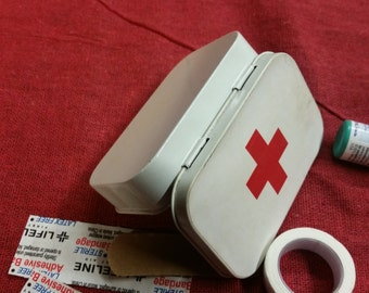 Mint Tin Band-Aid Box, Car/Purse First Aid,