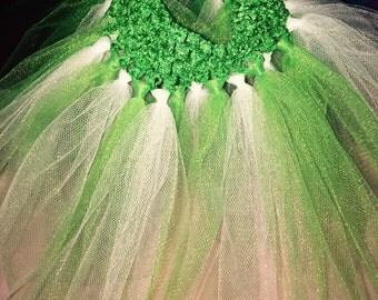 Green/white tutu