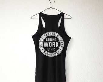 Strong Work Ethic I + Hardened Reps + Demanding Sets   IRONETHIC: Tank Top - Gym / Workout / Lift / Train / Bodybuilding / Powerlifting