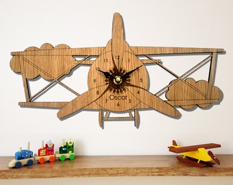 Plane Wall Clock, Children's Clock,