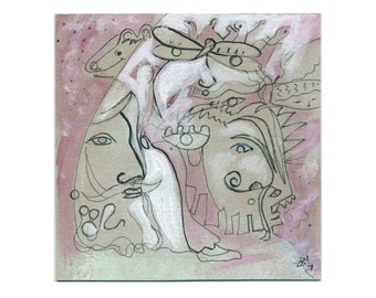 Body layers 15/15 painting painting drawing (pink - grey-image)