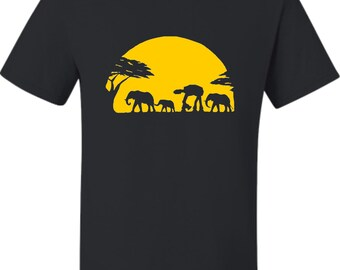 Adult Elephants And Imperial Walker Across African Safari T-Shirt