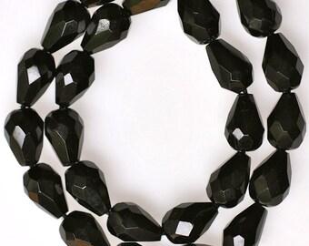 10mm x 7mm Fire Polished Teardrop Czech Glass Beads - Various Colors - Qty 25