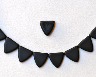 13mm Czech Glass Triangle Beads - Various Matte Colors - Qty 20