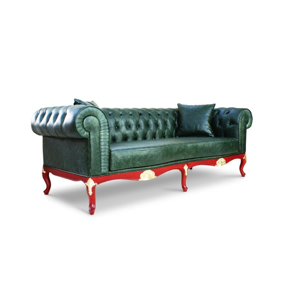 Items similar to Leather Chesterfield Sofa on Etsy