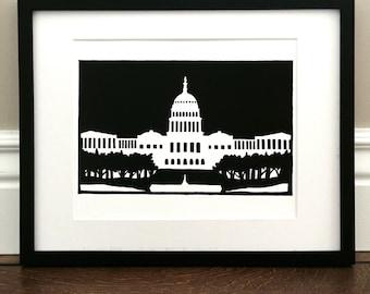 "US Capitol - Signed Print - 8.5"" x 11"""