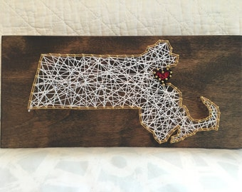 Boston - Massachusetts String Art