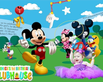 Micky Mouse Invitation
