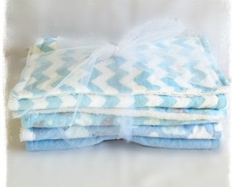 Boy Flannel Minky Burp Cloths
