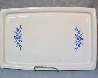 Vintage Corning Ware Broil, Bake, Tray, Platter, Blue CornflowerPlatter, Broiler Pan, Corningware Cookie Sheet or Serving Tray, Vintage 1960