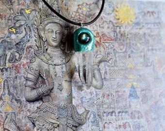 Labradorite and crystal necklace