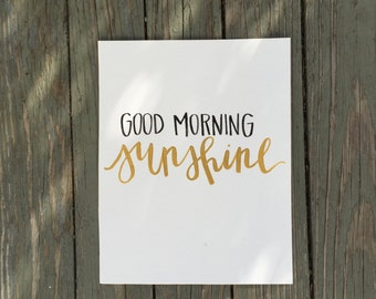 good morning sunshine 8x10