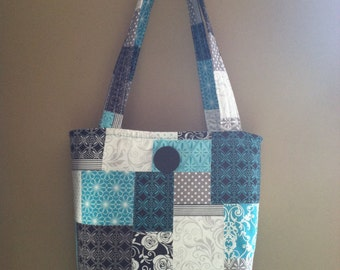 Bags and purses-Shoulder bag-Women's purse-Tote-Quilted purse