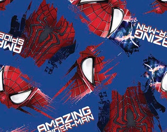 Spiderman Grunge Fabric From Springs Creative
