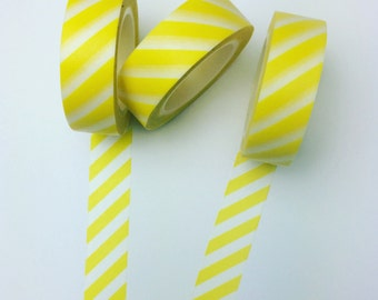 Yellow striped washi tape