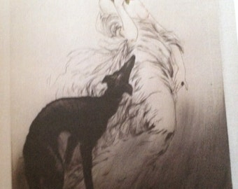 icart copy of lady and her dog