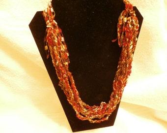 Hand Crocheted Trellis Necklace #23