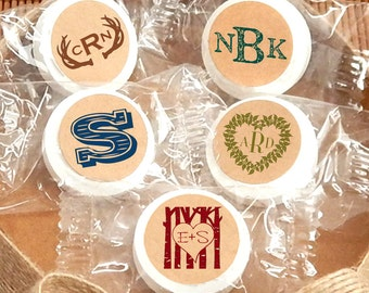 Monogram Life Savers®  Mints, Wedding Mints, Bridal Shower Mints, Mint to Be, Mint For Each Other, Personalized Mints, Custom  - Set of 50