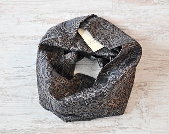 Infinity Scarf, Silk Scarf, Flower Scarf
