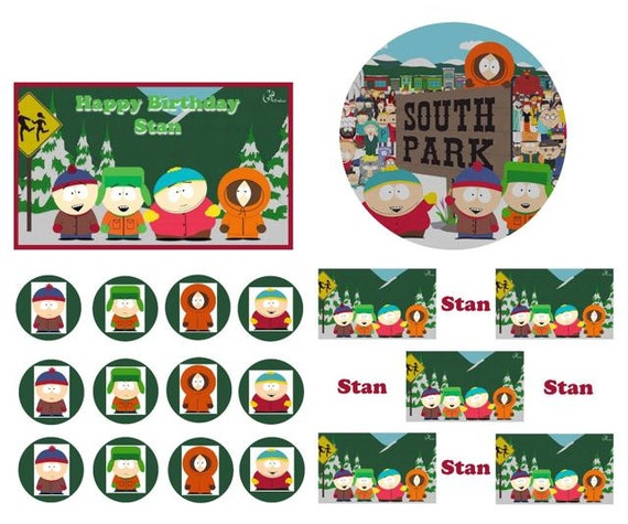 SOUTH PARK Birthday Cake Frosting Edible by ...
