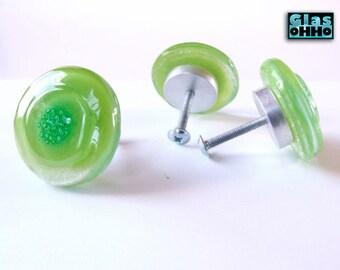 LIME Glass knobs